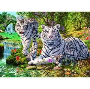 Ravensburger puzzle Bílé kočky loupežnice; 500 dílků