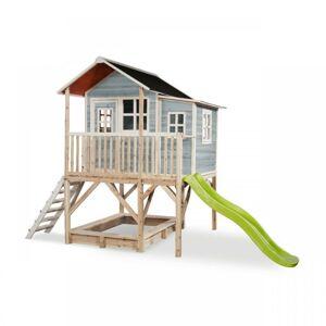 EXIT TOYS Zahradní cedrový domeček Exit Loft 550 modrý