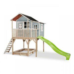 EXIT TOYS Zahradní cedrový domeček Exit Loft 750 modrý