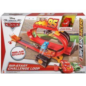 Mattel Cars Dráha se smyčkou s natahovacím lankem