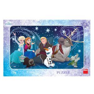 Dino puzzle Walt Disney Frozen: Sněhové Vločky 15 dílků