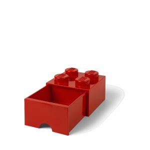 LEGO úložný box 4 s šuplíkem - červená