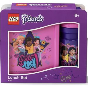 LEGO Friends Girls Rock svačinový set (láhev a box) - fialová