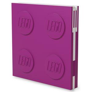 LEGO Zápisník s gelovým perem jako klipem - fialový