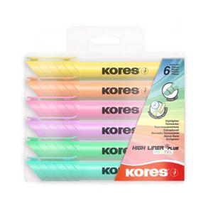 Arka Zvýrazňovač Kores pastel sada 6 barev