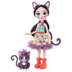 Mattel Enchantimals panenka a zvířátko - Kočka