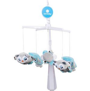 Sun Baby Kolotoč s plyšovou hračkou, modré sovy