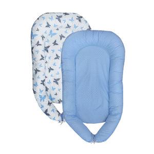 COSING Hnízdečko Sleeplease - Motýlci modrá