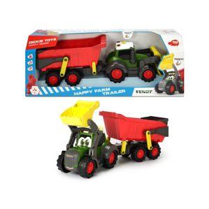 Dickie Happy Traktor s přívěsem 65 cm