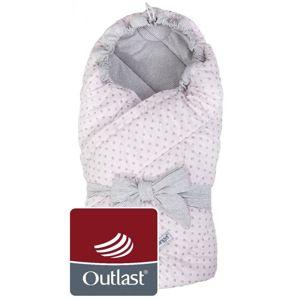 Little Angel zavinovačka multifunkční prošev Outlast růžová lesk puntík/pruh bílošedý mel.