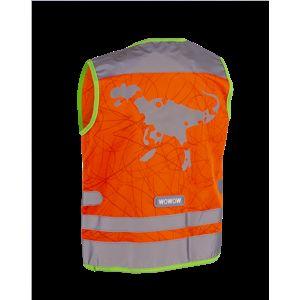 WOWOW - dětská reflexní vesta - Nutty jacket orange XS