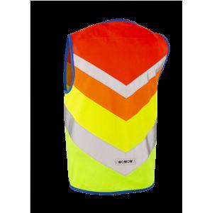 WOWOW- dětská rexlexní vesta - Rainbow Jacket Red Combo XS