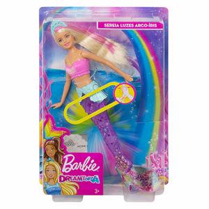 Mattel 25GFL82  Barbie svítící mořská panna s pohyblivým ocasem Běloška