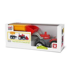 Igráček Multi Go Traktor s přívěsem, Eko balení - poškozený obal