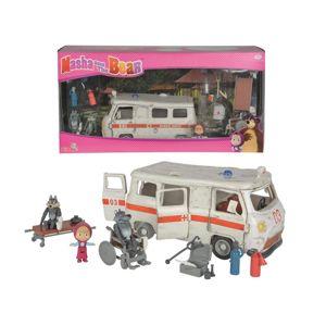 SIMBA S 9309863 Máša a medvěd Ambulance hrací set-poškozené zboží