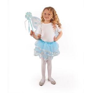 RAPPA Kostým tutu sukně modrý motýl s hůlkou a křídly
