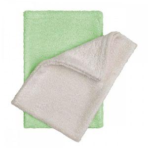 T-TOMI Bambusové žínky - rukavice, natur+green / natur + zelená