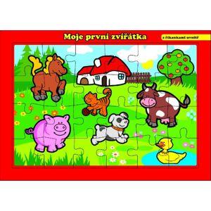 Teddies Puzzle deskové Moje první zvířátka farma 26x17cm 24 dílků MPZ
